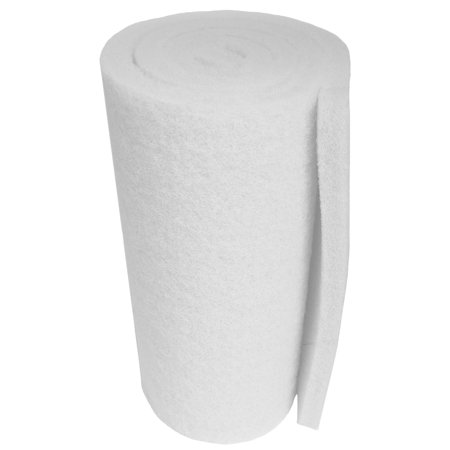 White Classic Koi Pond FINE Filter Roll - 18 inch by 72 inch Long by