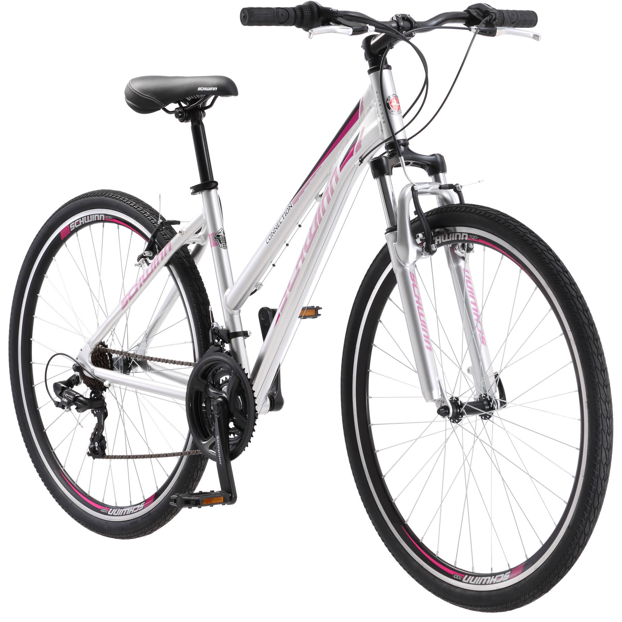 700C Schwinn Connection Women's Multi-Use Bike, Silver by Pacific Cycle