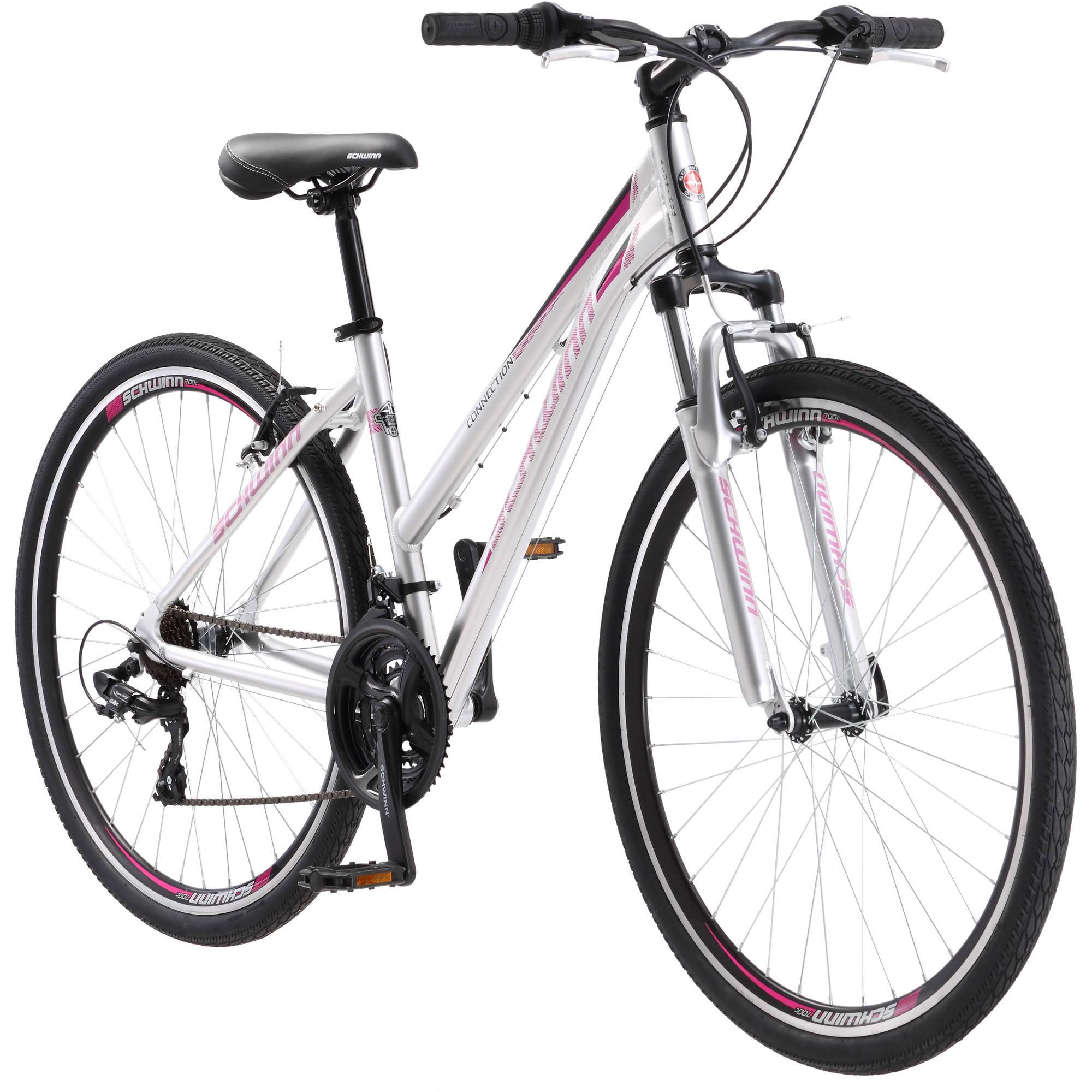 700C Schwinn Connection Women's Multi-Use Bike, Silver