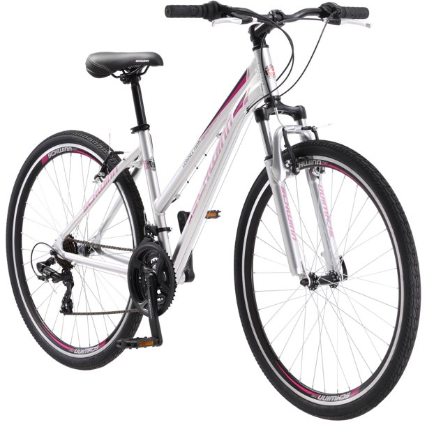 700C Schwinn Connection Women's Multi-Use Bike, Silver