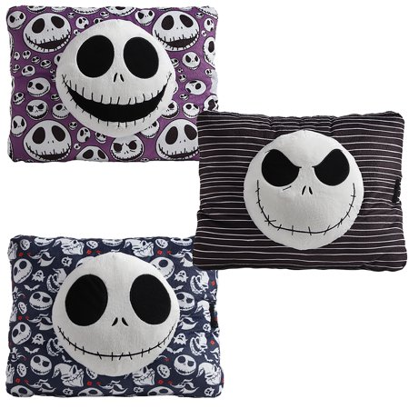 Nightmare Before Christmas Pillow (Pillow Pets Disney Nightmare Before Christmas Jack Skellington Pillow Combo Pack-Black, Blue, and)