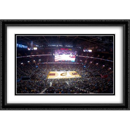 Quicken Loans Arena 2X Matted 40X28 Large Black Ornate Framed Art Print From The Stadium Series