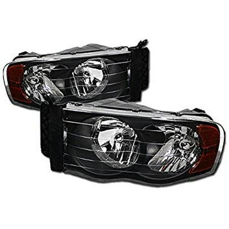 Soga HL-RAM-0205-BLACK DODGE RAM CRYSTAL BLACK HOUSING HEAD LIGHTS CORNER SIGNAL LAMPS AMBER