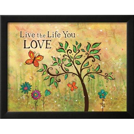 Live Life Framed Print Wall Art By BJ Lantz - Walmart.com