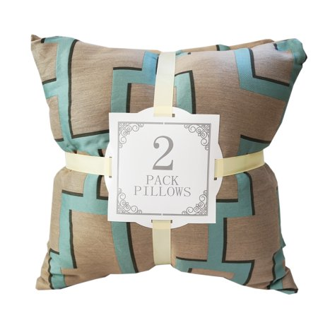 Home Accent Bronze Silk Geometric Throw Pillows (Set of 2) Bronze Throw Pillow
