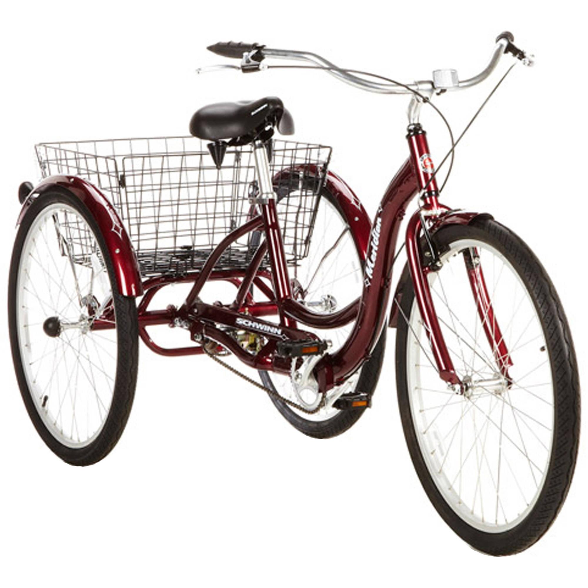 "26"" Schwinn Meridian Adult Tricycle, Cherry"