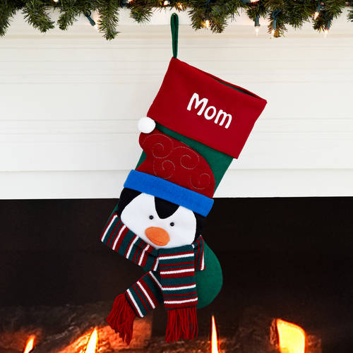 Personalized Happy Holiday Stockings, Available in 7 Designs