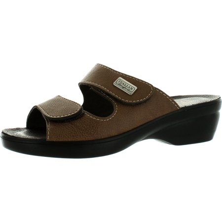 Italian Comfort Womens Piermont Made In Italy Comfort Double Strap Sandals