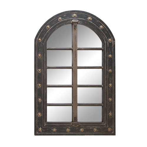 Woodland Imports 53820 Wall Accent Mirror with Wood Frame