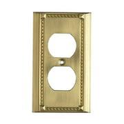 Elk Lighting Clickplates 2 Socket Switch Plate in Brass