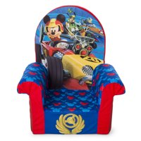 Marshmallow Furniture, Children's Foam High Back Chair, Disney Mickey Mouse Roadsters High Back Chair