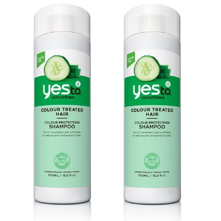 Yes To Cucumber For Colour Treated Hair, Shampoo, 16.9 Oz (Pack of