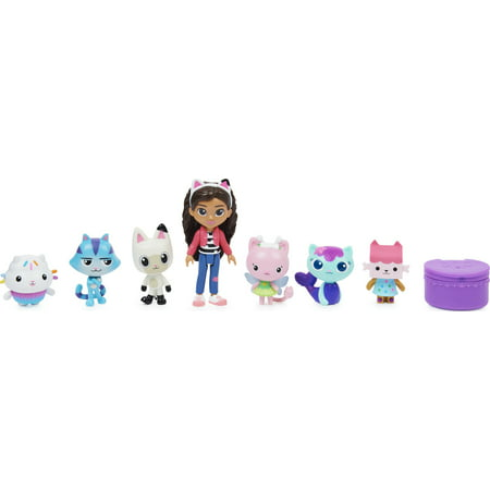 Gabby's Dollhouse, Deluxe Gift Set with 7 Toy Doll Figures Ages 3 and up
