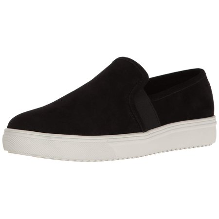 Blondo Womens Riyan Leather Low Top Slip On Fashion, Black Suede, Size (Air Force 1 Black Suede Gum Low)