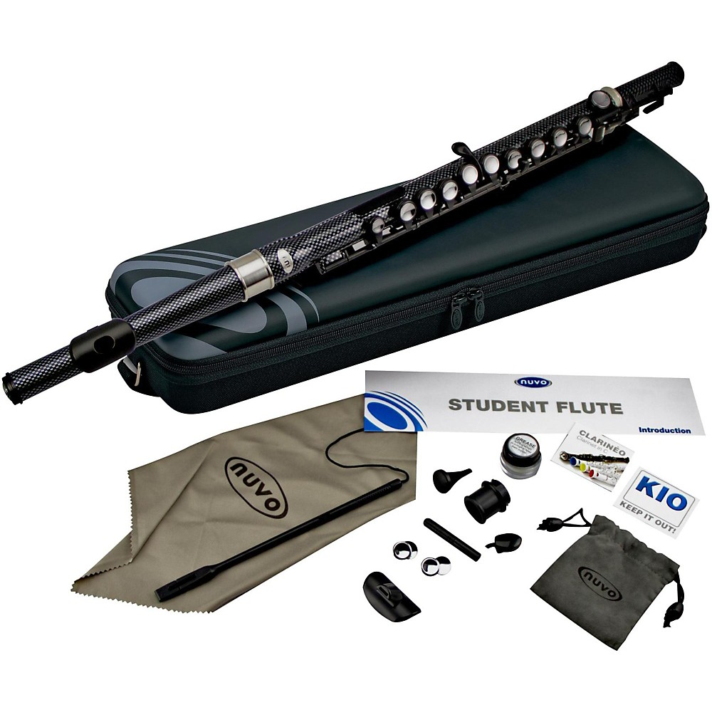 Nuvo Student Plastic Flute Kit Black Checkered