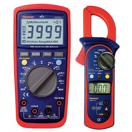 Westward 22XX28 Digital Electrical Multimeter and Clamp On Ammeter