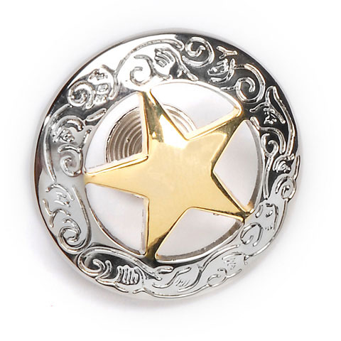 Realeather Crafts Star Concho: Silver/Gold