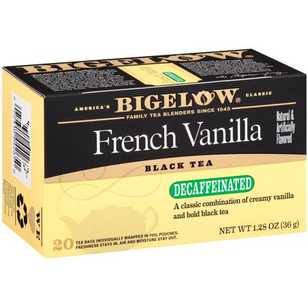 (4 Pack) Bigelow, French Vanilla Decaf, Tea Bags, 20 Ct