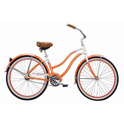 "Micargi 26"" Tahiti Women's Beach Cruiser Bike, Orange"
