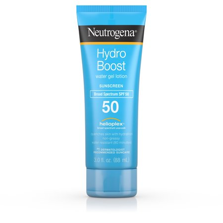 Neutrogena Hydro Boost Gel Moisturizing Sunscreen Lotion, SPF 50, 3 fl. (Best Physical Sunscreen For Melasma)