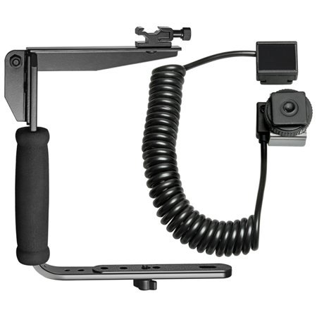 Vidpro VB-6 Rotating Arm Flash Bracket with E-TTL Off-Camera Flash Cord for Canon EOS 6D, 70D, 7D, 5DS, 5D Mark II III Rebel T5, T5i, T6i, T6s, (Off Camera Flash Cord)