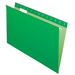 Office Depot 2-Tone Hanging File Folders, 1/5 Cut, 8 1/2in. x 14in., Legal Size, Green, Box Of 25, OD81630 (Office Depot Nearby)