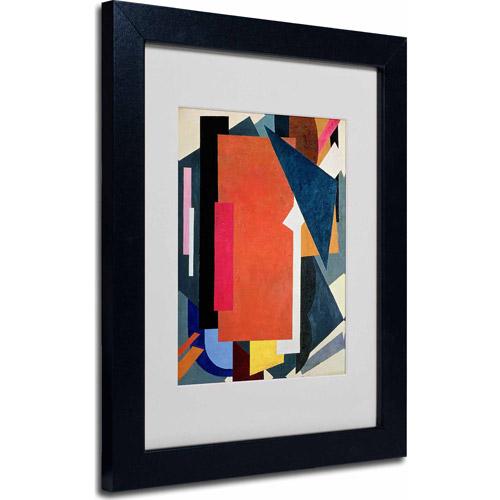 "Trademark Fine Art ""Abstract III"" Matted Framed Art, Black Frame"
