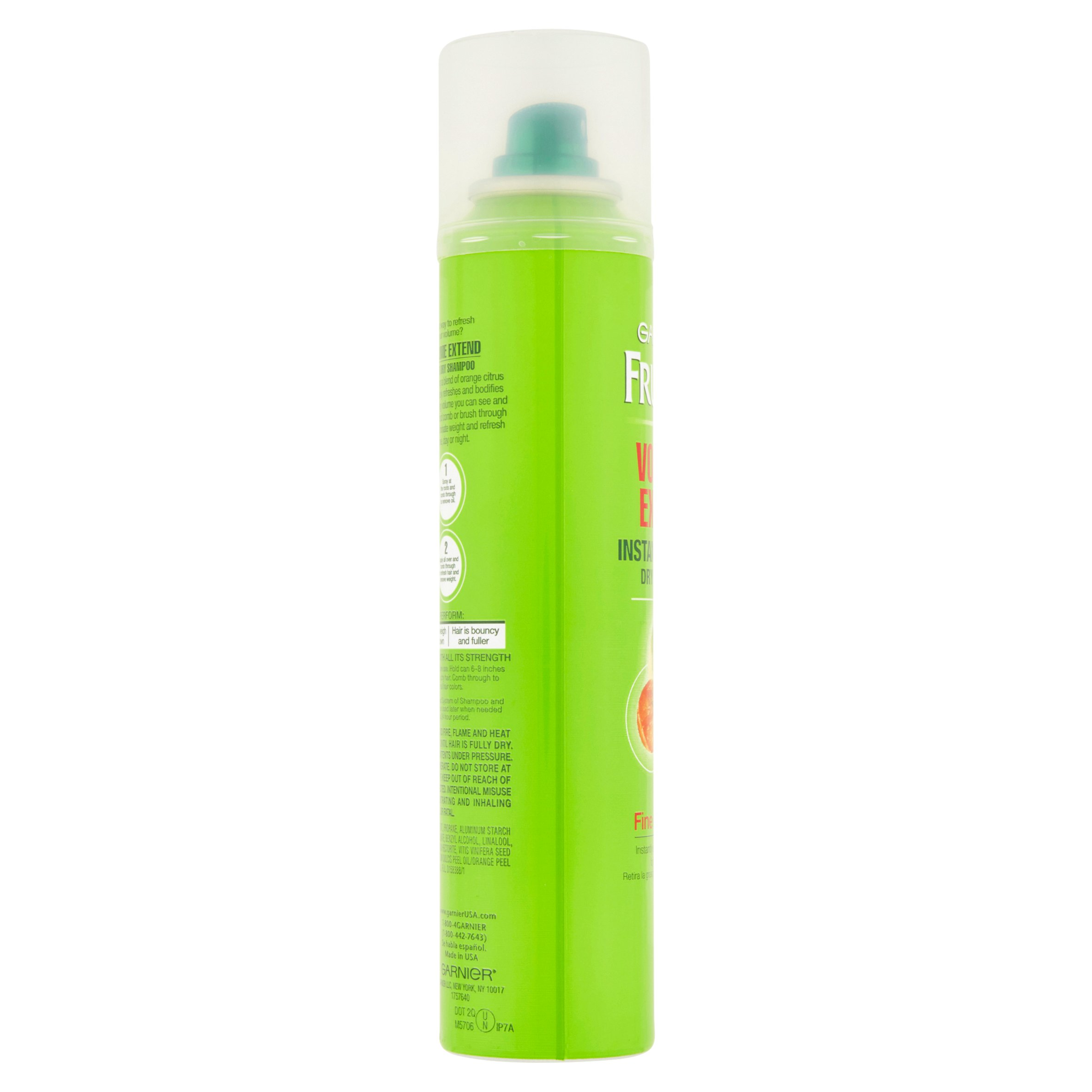 Garnier Fructis Volume Extend Instant Bodifier Dry Shampoo Orange