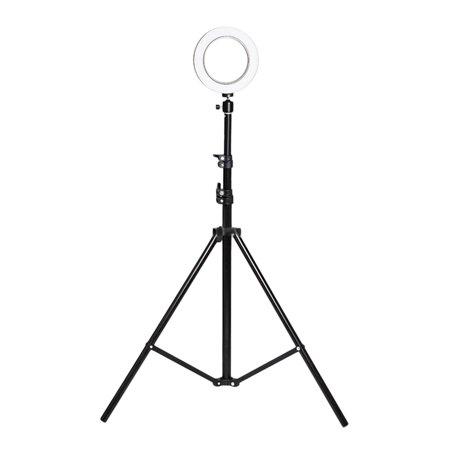 Opolski Universal Round LED Ring Fill Light Webcast Selfie Lamp Tripod Stand Bracket - image 3 of 7