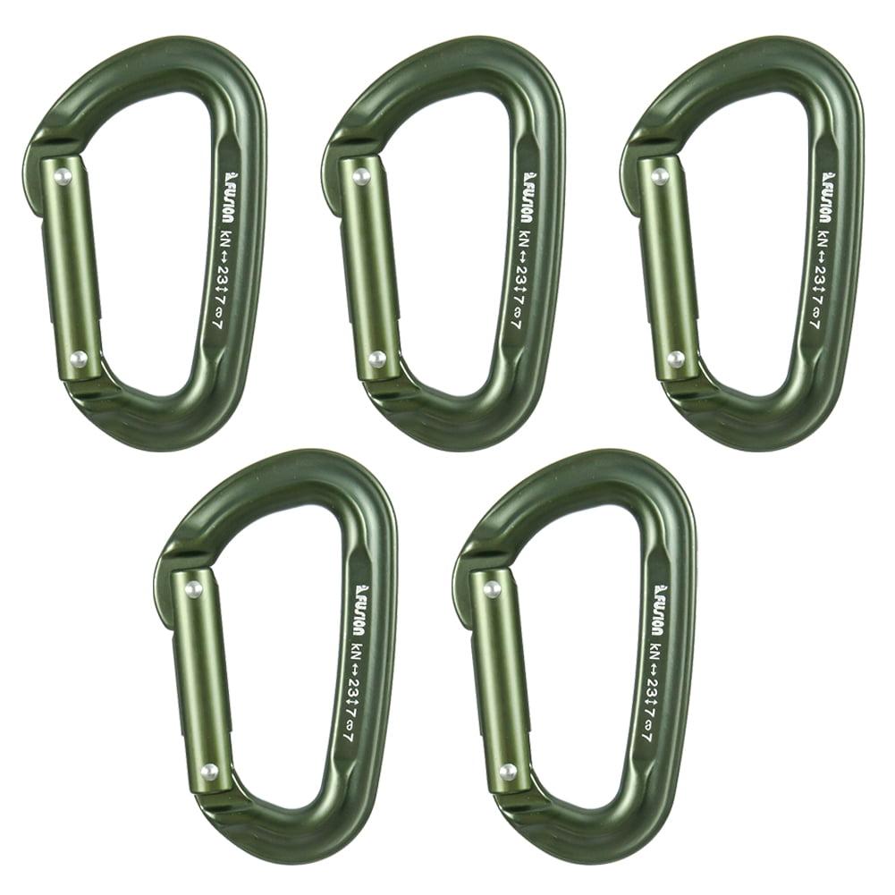 Fusion Climb Contigua Military Tactical Edition Straight Gate Aluminum Carabiner Foliage Green 5-Pack