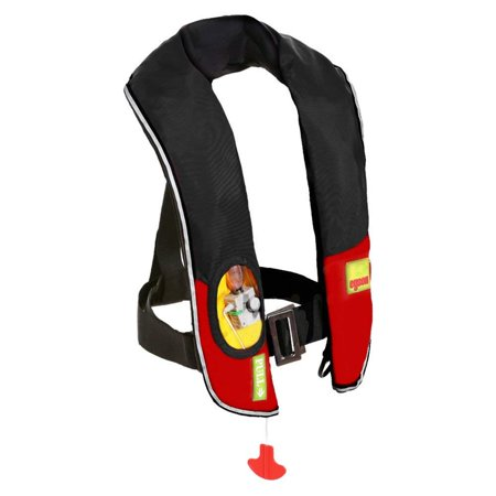 Paddling Suit - Premium Automatic / Manual Inflatable Life Jacket Lifejacket PFD Life Vest Flotation Suit Inflate Survival Aid Lifesaving PFD NEW Black Color
