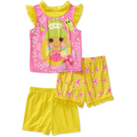 Baby Girls' Pixie 3-Piece Tank and Shorts Pajama Set