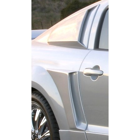Mustang Xenon Side Scoops - Xenon 12136 Quarter Window Scoop Fits 05-11 Mustang