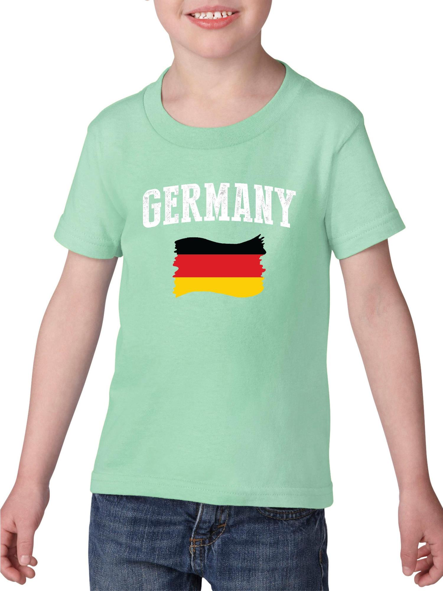Germany Heavy Cotton Toddler Kids T-Shirt Tee Clothing