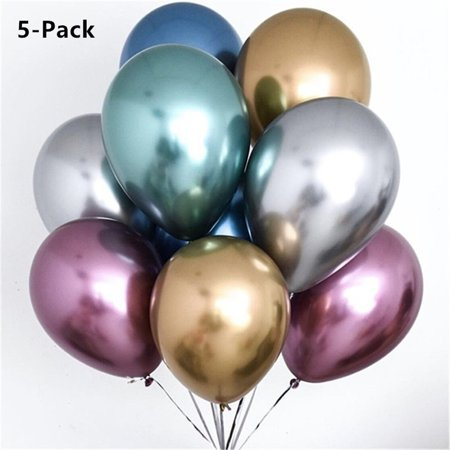 HiCoup 5Pcs 12inch Metallic Latex Balloon Celebration Wedding Birthday Party Decoration](Blue And Green Birthday Decorations)