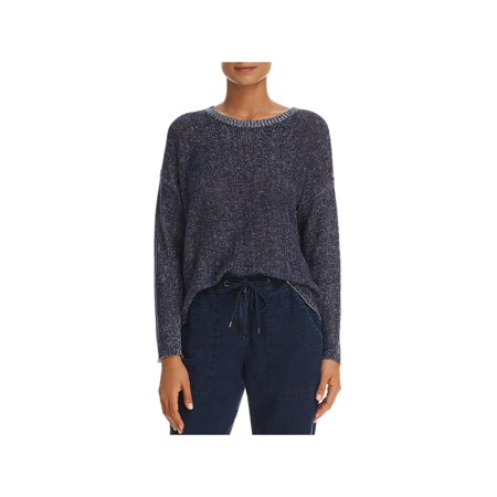 Eileen Fisher Womens Linen Long Sleeves Pullover Sweater