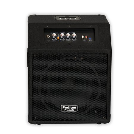 podium pro ppm10 battery powered 10 guitar amp speaker with mp3 player. Black Bedroom Furniture Sets. Home Design Ideas