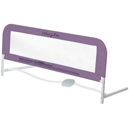 Dream On Me Security Rail For Twin Size Bed in Purple ()