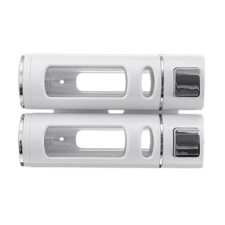 400ml*2 Bathroom Soap Dispenser Press Type Wall-mounted Soap Liquid Box - image 4 de 7
