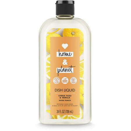 Love Home and Planet Dish Soap Citrus Yuzu & Vanilla 24 - 16 Ounce Dish Soap