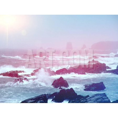 Ocean with Big Waves Print Wall Art By