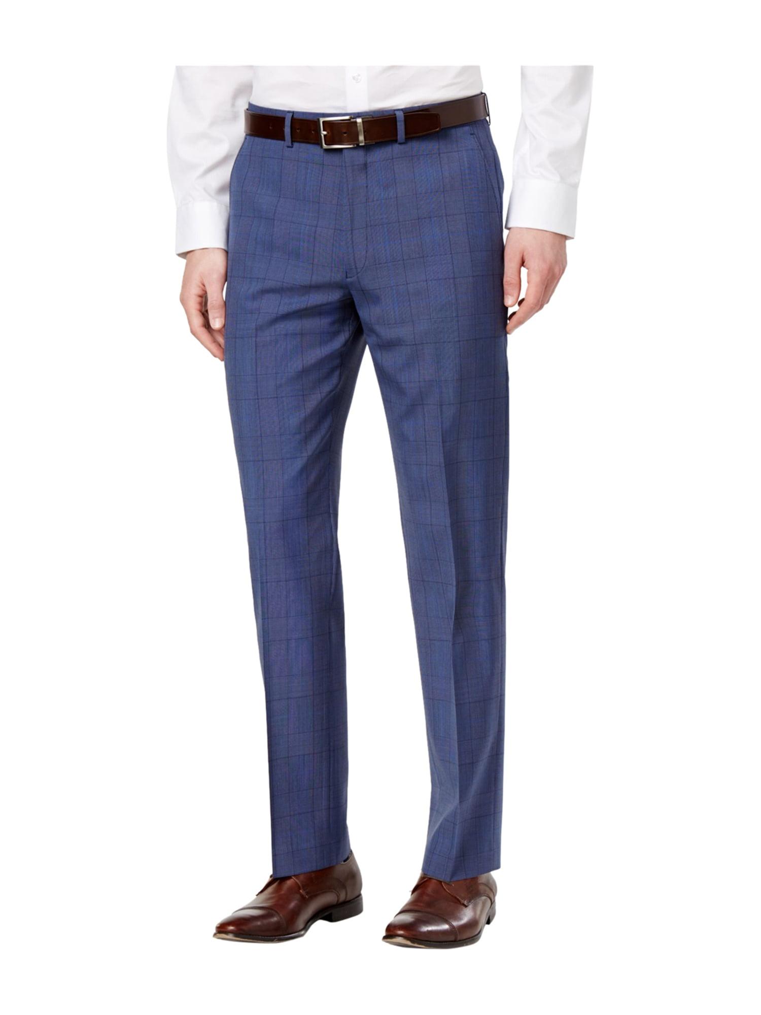 Ryan Seacrest Distinction Mens Herringbone Dress Pant Slacks