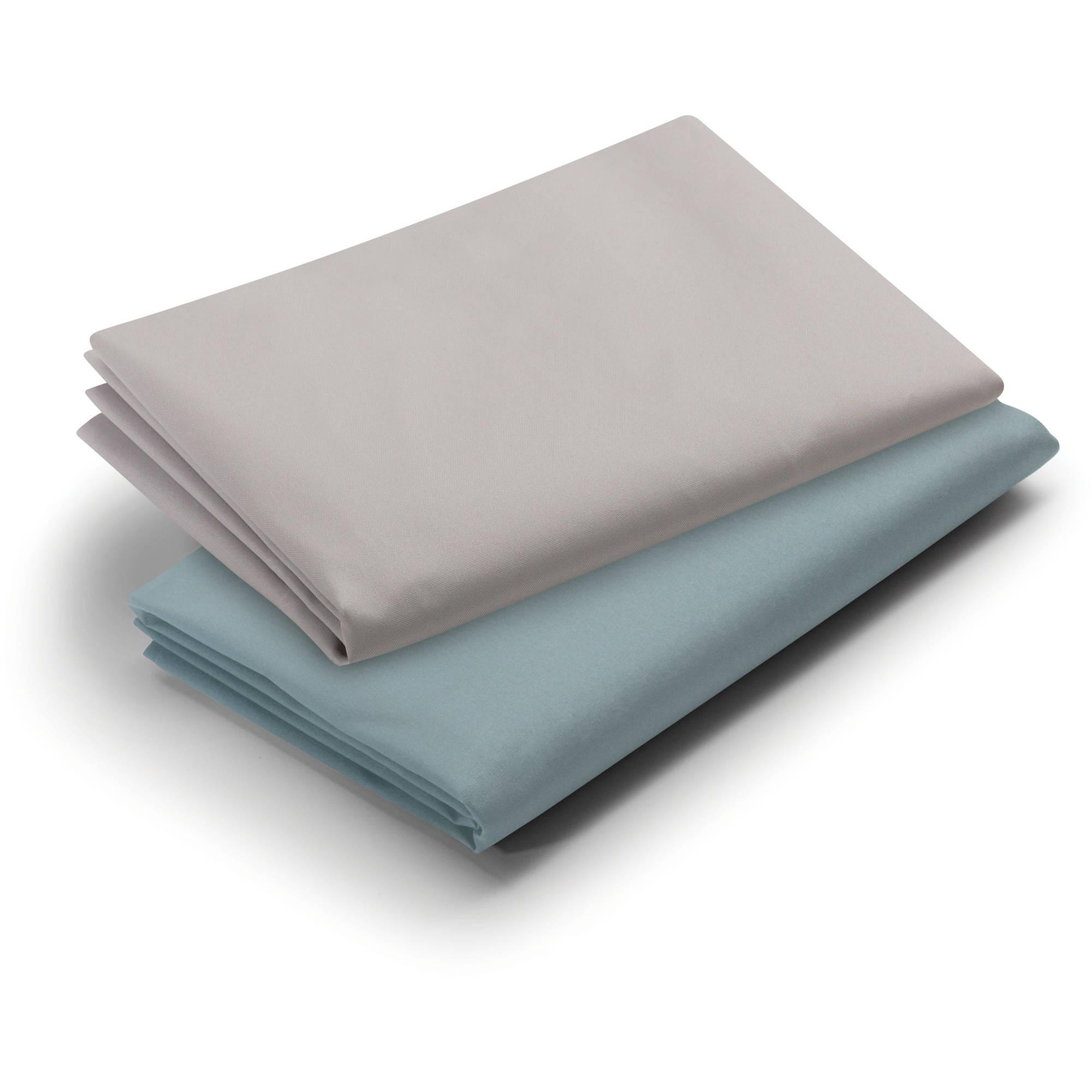 Graco Pack 'n Play Waterproof Sheets, 2pk, Teal/Pale Grey