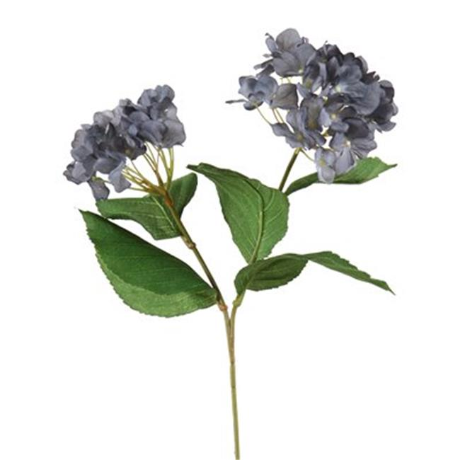 Distinctive Designs DP-800-GYBL DIY Flower Antique New Gray Blue Hydrangea x 2 with 5 Leaves - Pack of 12