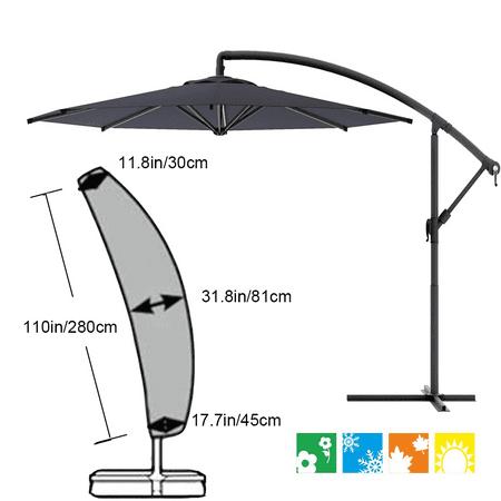 Parasol Cover Cantilever Outdoor, Cantilever Patio Umbrella Cover