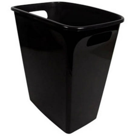 Waste Oil Storage (Hefty 8.8-Gallon Polished Handled Open Waste Can, Black )