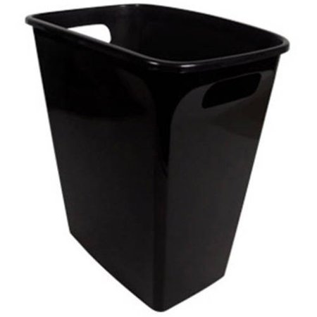 Hefty 8.8-Gallon Polished Handled Open Waste Can, Black