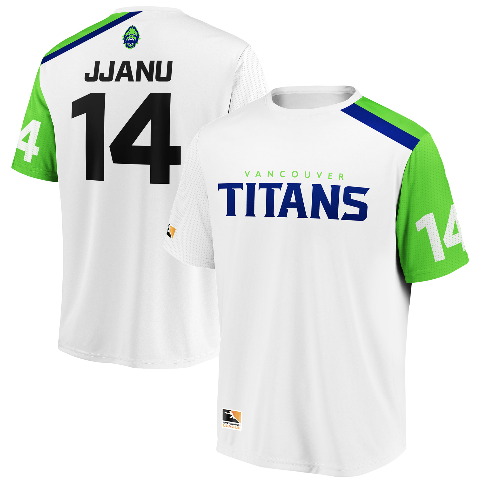 JJANU Vancouver Titans Overwatch League Replica Away Jersey - White