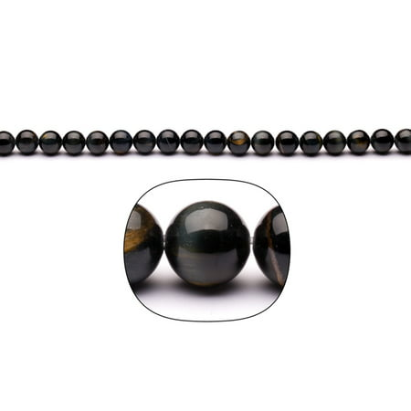 Blue Tiger Eye 8mm Round Beads 16-Inch Stand ()
