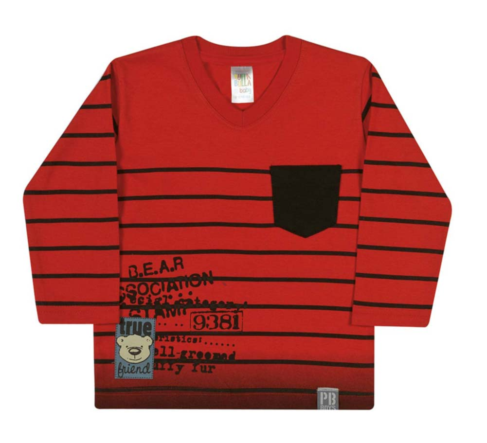 Pulla Bulla Baby boy graphic long sleeve tee ages 3-12 months
